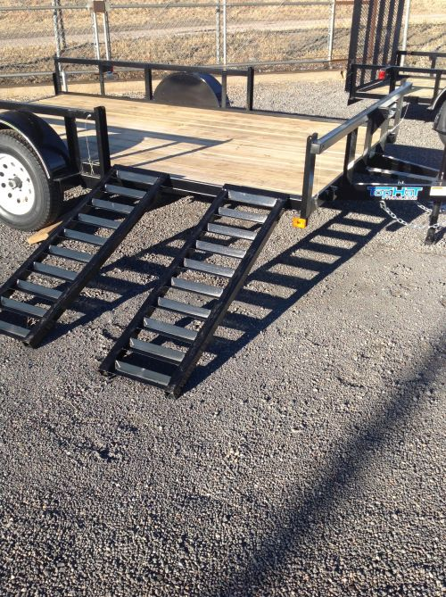 Top Hat side-load flatbed trailer